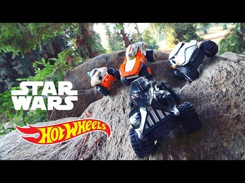 Star Wars Hot Wheels Monster Trucks Review and Play!