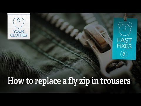 Fast fix: how to replace a fly zip in trousers