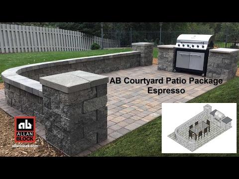 AB Courtyard Patio Package Espresso