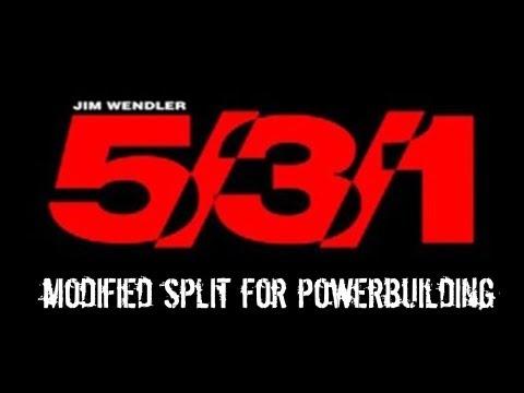 Home Physique Modified Wendler 5/3/1 Powerbuilder Split
