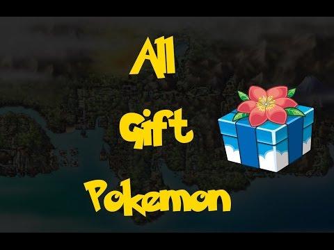 All Gift Pokemon (Pokemon Heart Gold/Soul Silver)
