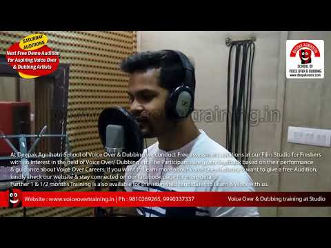 Free Voice Over Auditions @ voiceovertraining.in Delhi