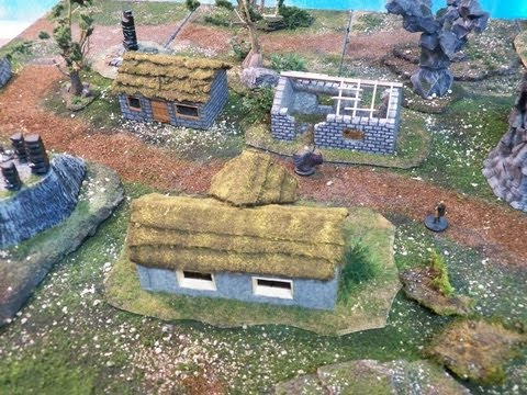 Miniature Medieval Terrain for Wargaming (Warhammer, LOTR, The Hobbit Strategy Battle Game)