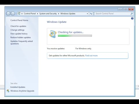 Windows 7 - Checking For Updates
