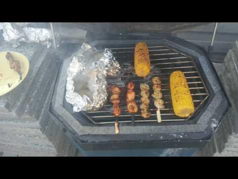 Diy kamado grill grilling