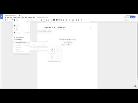 APA Style 6th Ed. - Running Head on Google Docs