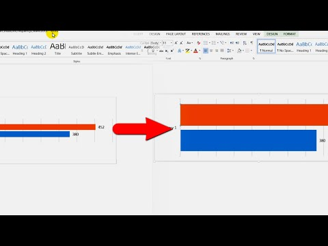 How to increase Bar Thickness of a Chart (MS Word 2013)