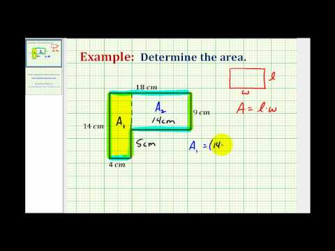 Ex:  Find the Area of an L-Shaped Polygon Involving Whole Numbers