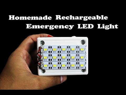 How to make Rechargeable Emergency LED Light (DIY)