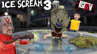 ICE SCREAM 3!  Fishing Rod @ the Mall! (FGTeeV Double Glitches Game)