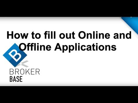 Filling out Online and Offline Applications