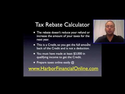 Tax Rebate Calculator 2012, 2013