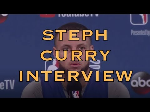 Entire STEPH CURRY interview from practice at Oracle Arena, day before 2018 NBA Finals G2