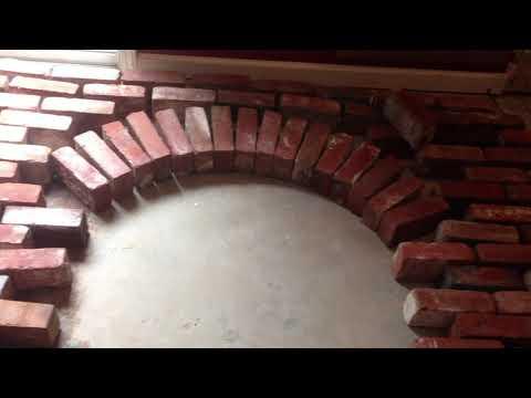 Building an Arched Brick Fireplace Facia