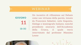 Francesco Sabatini - Debate e uso virtuoso della lingua