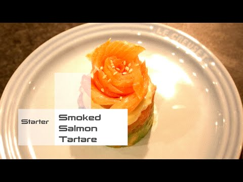 [Starter] Smoked Salmon Avocado Tartare