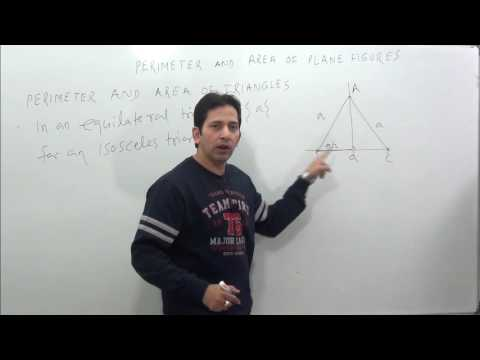 Perimeter & Area Of Plane Figures ( Concept of Triangle )-1 Mensuration