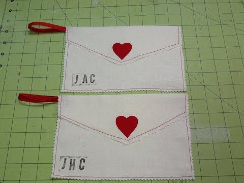 Valentine's Day Fabric Envelopes