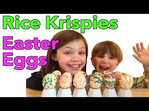 Rice Krispies Easter Egg Treats with a Chocolate Surprise!