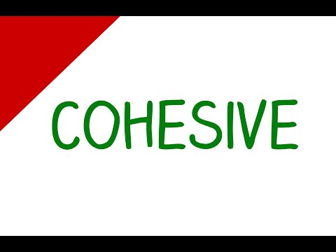 Learn English Words - Cohesive (Vocabulary Video)