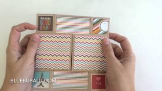 Tarjeta sin fin!!! 😍😍😍 con la colección #snaplife de @simplestories_ #scrapbooking #scrap #card #tarjeteria #cardmaking   Para terminar habría q decorarla y ponerle alguna foto y/o mensaje.   www.bluebubalu.com
