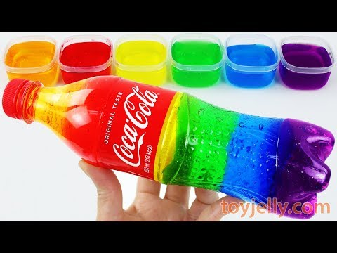 How To Make Slime Clay Coca Cola Bottle with Jelly Monster Toys DIY Learn Colors Baby Finger Song