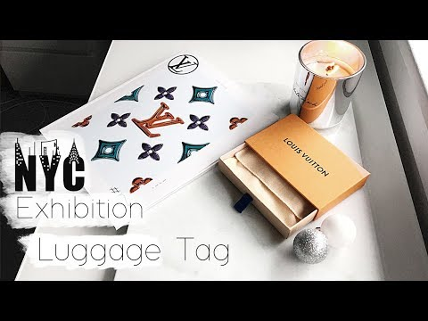 Louis Vuitton NYC Exhibition Luggage Tag - Also for sale