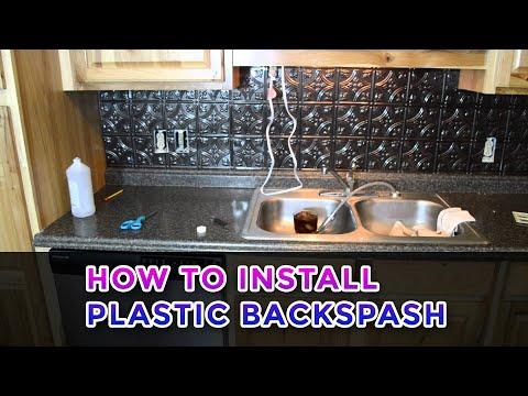 Installing a Plastic Backsplash