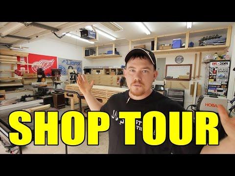 2 Car Garage Woodshop - Shop Tour 2015