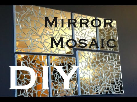 DIY: Mirror Mosaic Art ♡ Theeasydiy #ArtForTheNonArtist