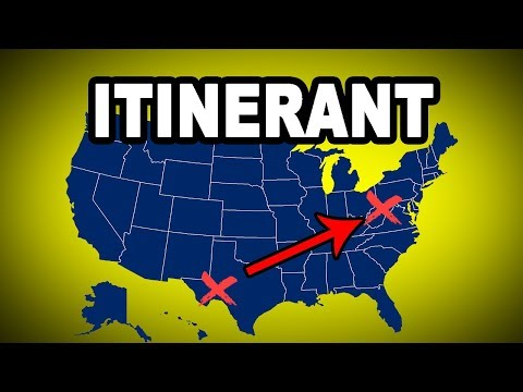 Learn English Words: ITINERANT - Meaning, Vocabulary with Pictures and Examples