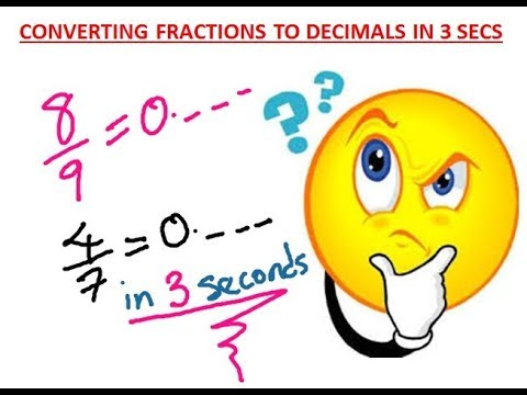 How to Convert Fractions to Decimals in 3 Seconds | Maths Trick
