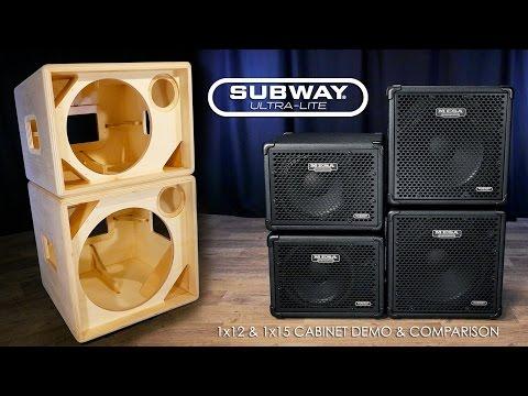 MESA® Subway® Ultra-Lite 1x12 & 1x15 Official Cab Demo/Comparison