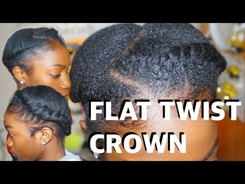 Beginner How To: Flat Twist Crown 👑| Short 4c Protective Style