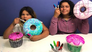 Download GIANT 3 MARKER SQUISHY CHALLENGE!!! 3 MARKER CHALLENGE WITH GIANT SQUISHIES Video