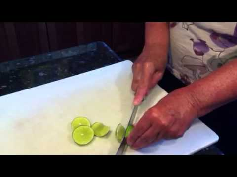How to slice a lime