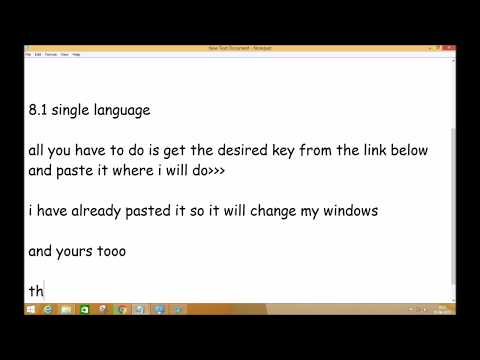 How to upgrade windows 8.1 single language to Pro/Enterprises/Core [product keys]