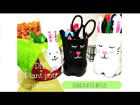 Cute DIY using Plastic Bottle / Pen holder / Plant pot
