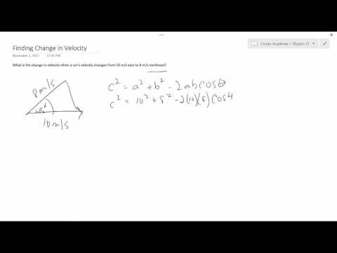 Physics 12 - Finding Change in Velocity