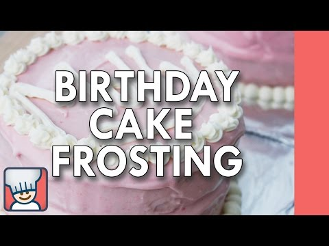 How to make birthday cake frosting