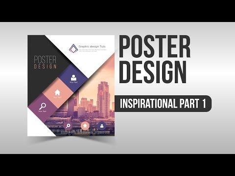 Inspirational Poster Design part 1 Illustrator Speed Art