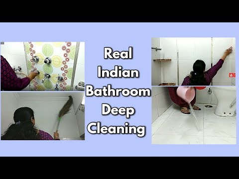 Real Indian Bathroom Deep Cleaning / Bathroom Cleaning -monikazz kitchen