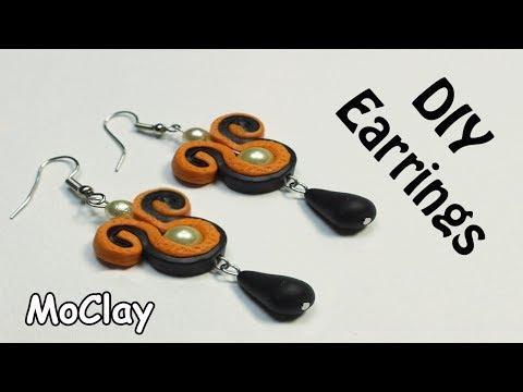 DIY Easy Soutache Earrings - Polymer clay tutorial