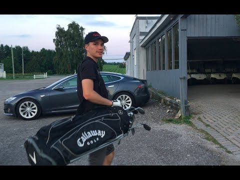 Golf and Tesla, a great combination!