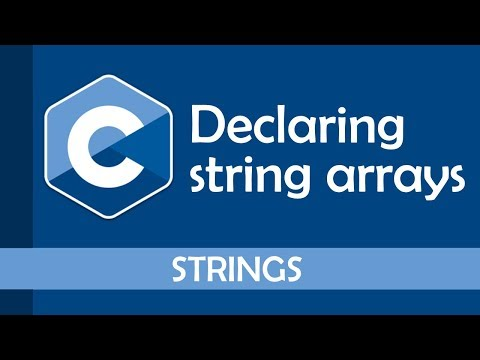 How to declare an array of strings in C
