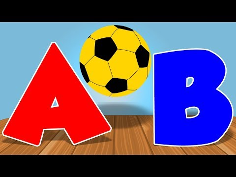 Learn Alphabets | Learn With Soccer Ball | Educational Video for Kids