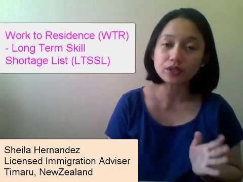 WTR - Long Term Skill Shortage List (LTSSL)