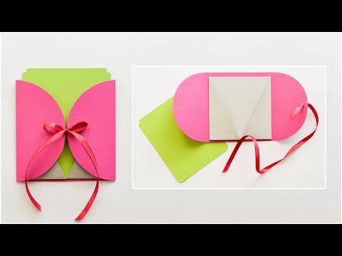 How to make : Greeting Card with Envelope   Kartka Okolicznościowa z Kopertą - Mishellka #244 DIY