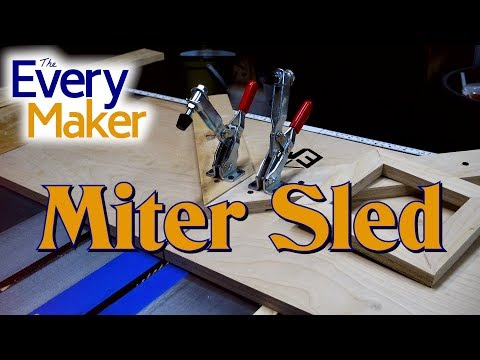 Perfect picture frames with a DIY Miter Sled