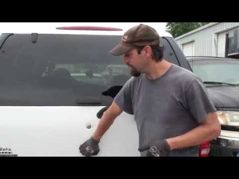 How to get the rear door open on an expedition with a broken cable